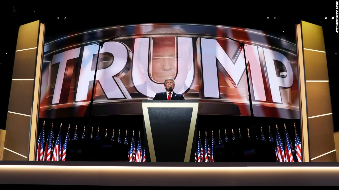 "Trump delivers a speech at the Republican National Convention in July, accepting the party's nomination for President. ""I have had a truly great life in business,"" he said. ""But now, my sole and exclusive mission is to go to work for our country -- to go to work for you. It's time to deliver a victory for the American people."""