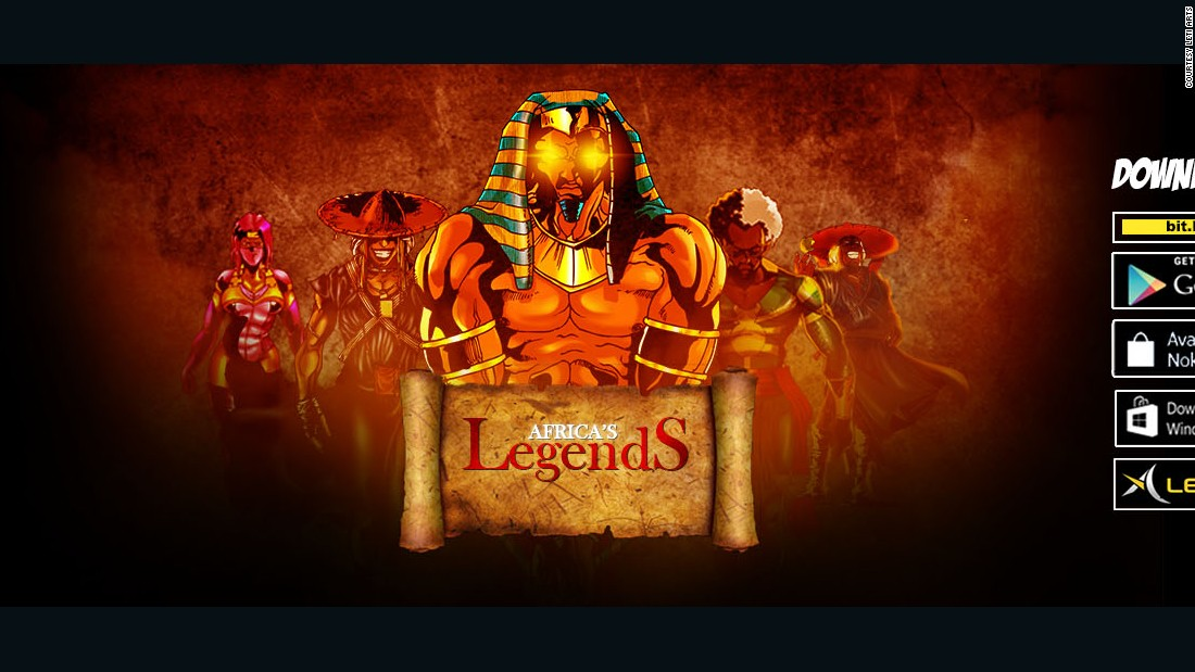 Elite superheroes fight crime in present day Africa in mobile game Africa's Legends. Some of the characters are re imagined from African folklore, while others are fictional.