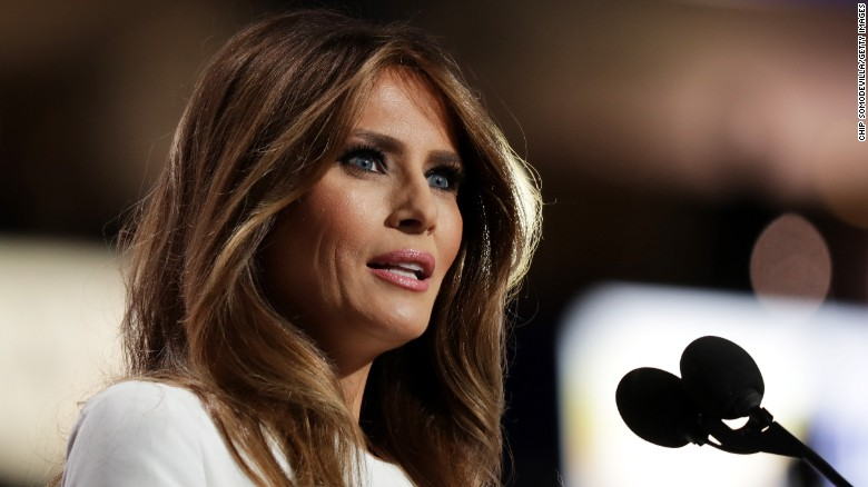 Melania Trump silent while Donald Trump under fire