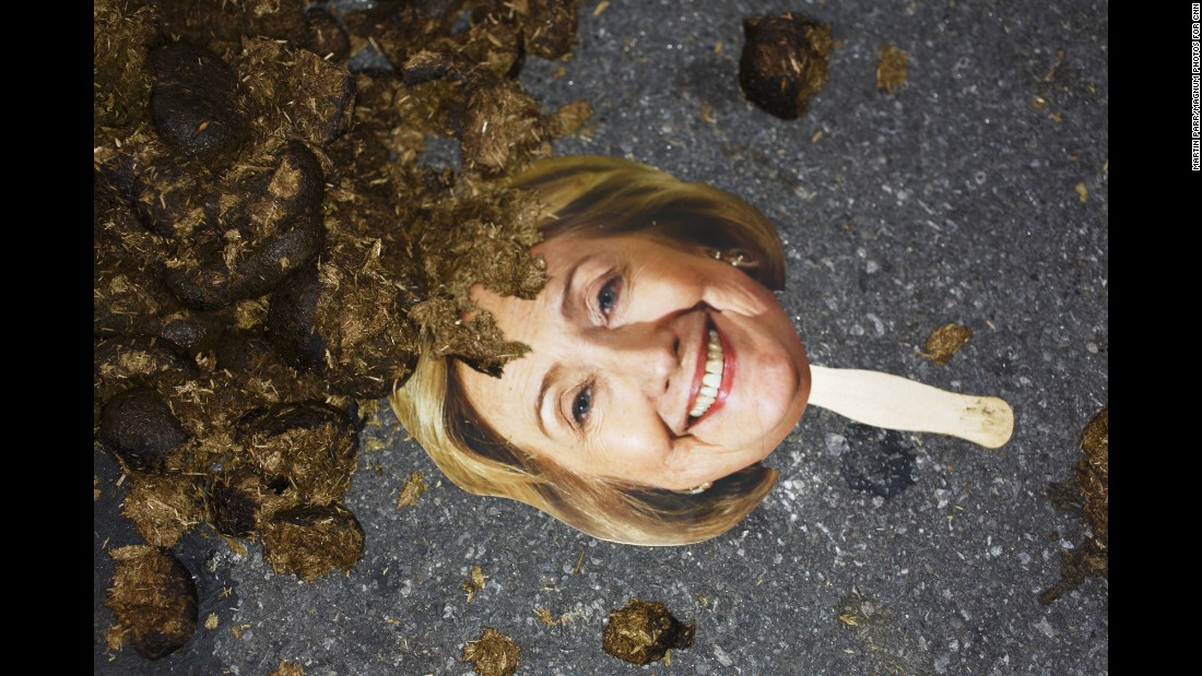 """Hillary Clinton was not a popular figure at the Republican National Convention. <a href=""""http://www.cnn.com/2016/07/21/politics/gallery/cnnphotos-unconventional-martin-parr/index.html"""" target=""""_blank"""">See more unconventional shots from the convention</a>"""
