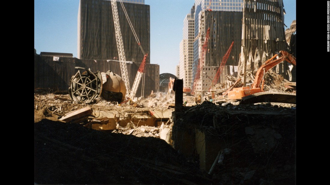 """""""The Sphere"""" once stood in the middle of Austin J. Tobin Plaza, the area between the World Trade Center towers in Manhattan."""
