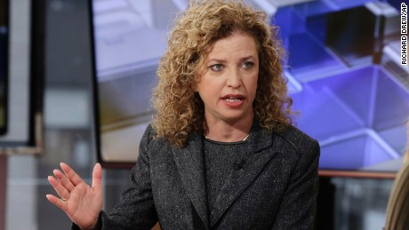 Democratic National Committee Chair, Rep Debbie Wasserman Schultz, is interviewed in New York in 2016.
