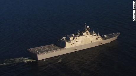 U.S. Navy tests new warship