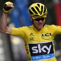 Froome celebrates