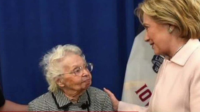 103-year old excited to vote for Clinton