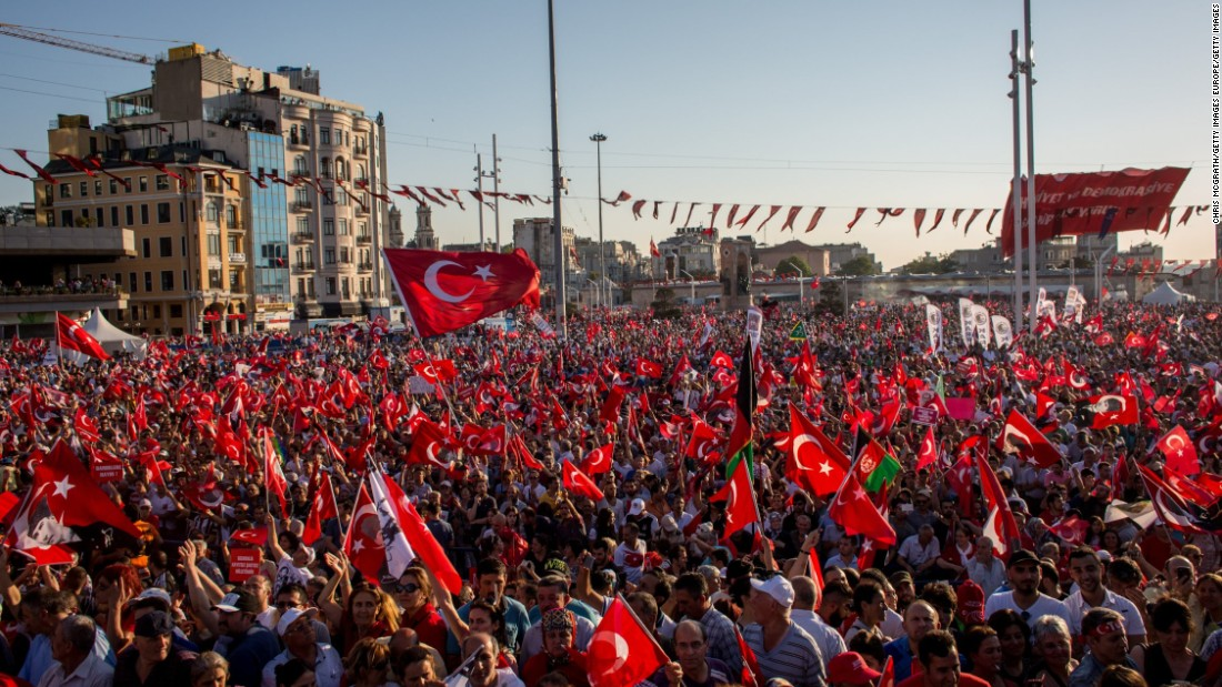 Since the attempted coup, Turkey's government has fired or suspended 50,000 people from the country's institutions and security forces.