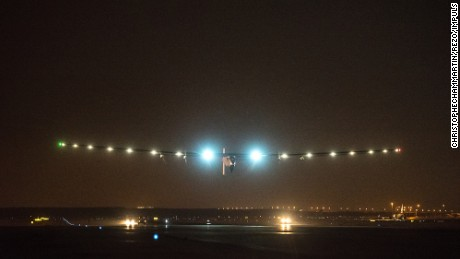 Solar Impulse takes off from Cairo on its final leg on Sunday, July 23