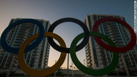 RIO DE JANEIRO, BRAZIL - JULY 23: A general view of the Olympic and Paralympic Village for the 2016 Rio Olympic Games displaying the Olympic Rings in Barra da Tijuca. The Village will host up to 17,200 people amongst athletes and team officials during the Games and up to 6,000 during the Paralympic Games on July 22, 2016 in Rio de Janeiro, Brazil. (Photo by Buda Mendes/Getty Images)