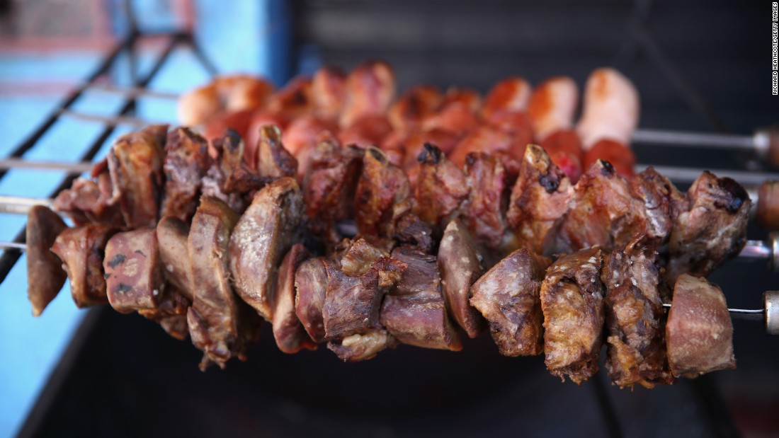 One of the country's favorite menu items, churrasco, involves meaty delights pulled off open-flame grills.