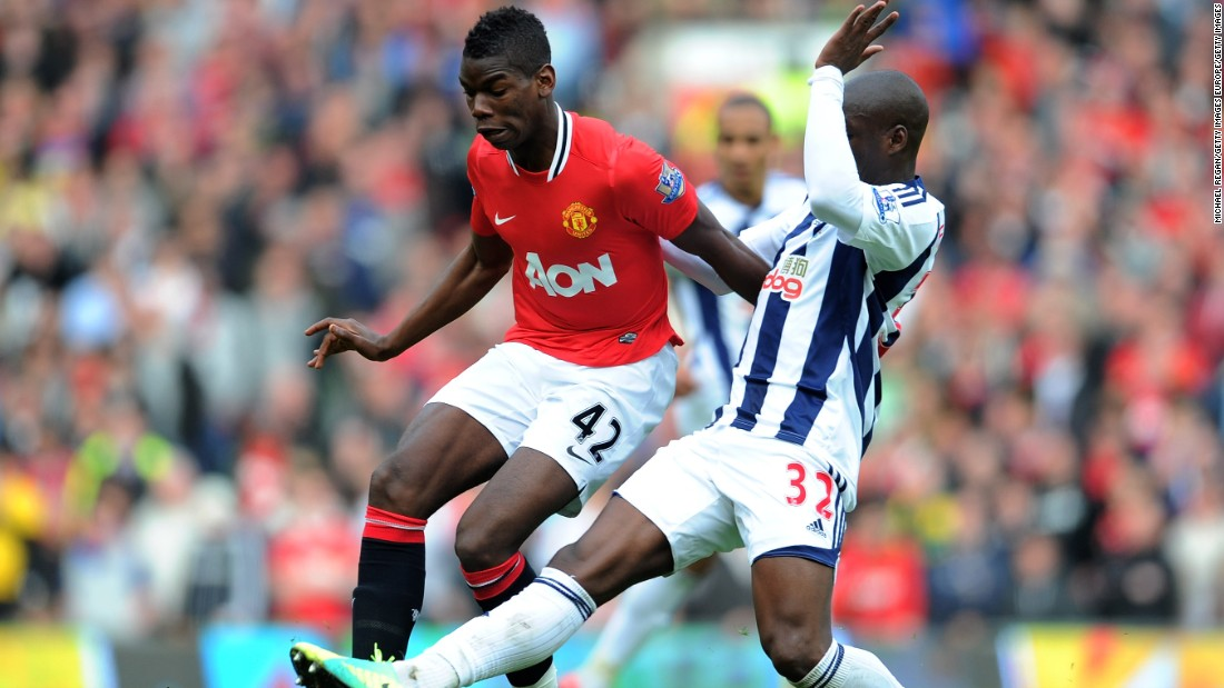 Pogba made just seven first-team appearances for United during his spell at Old Trafford and refused to sign a new contract. He left for Juventus in 2012 with United receiving around $1m in compensation.