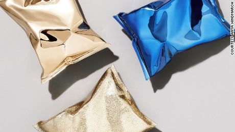 Anya Hindmarch has created a collection of purses inspired by a a packet of crisps