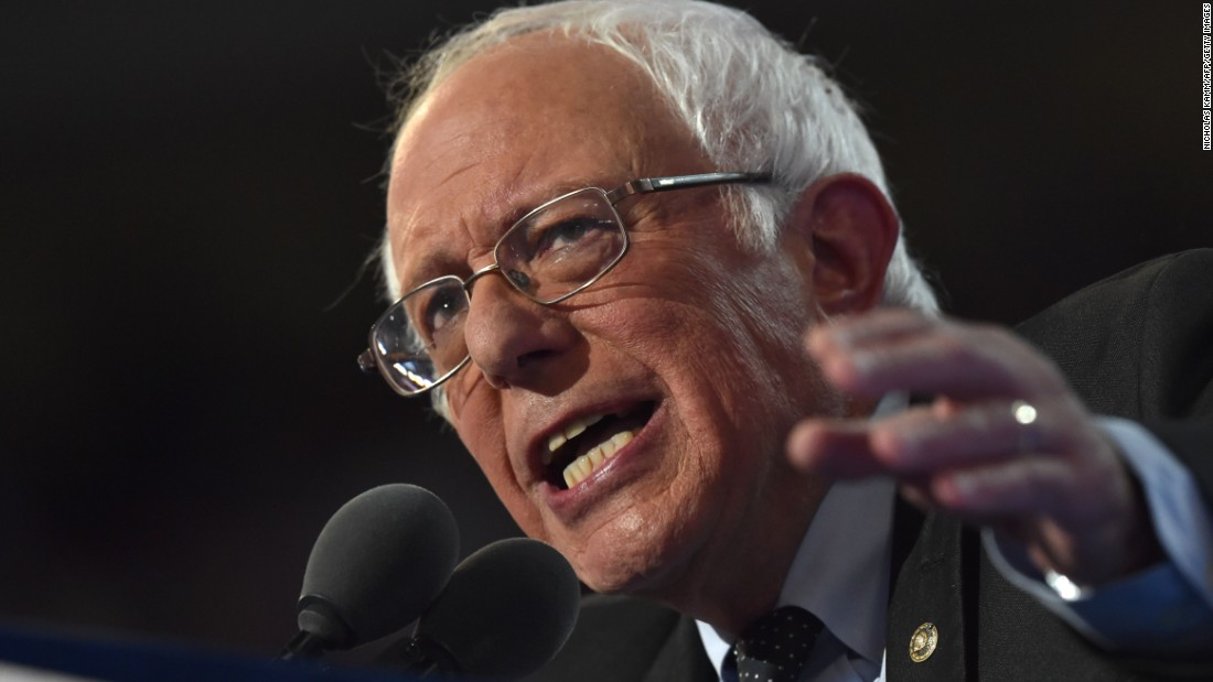 """Sanders delivers the headline speech on Monday. """"I understand that many people here in this convention hall and around the country are disappointed about the final results of the nominating process,"""" Sanders said. """"I think it's fair to say that no one is more disappointed than I am. But to all of our supporters -- here and around the country -- I hope you take enormous pride in the historical accomplishments we have achieved."""""""