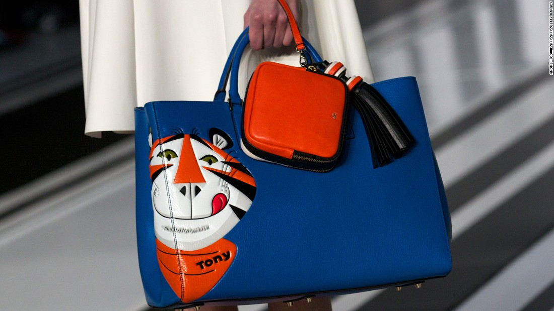 """Hindmarch highlights her Counter Culture collection as a favorite past collaboration. """"I like the idea of the high-low aspect of fashion, because you can be quite playful. You can do a beautiful bag that's inspired by something as fun as cereal."""""""
