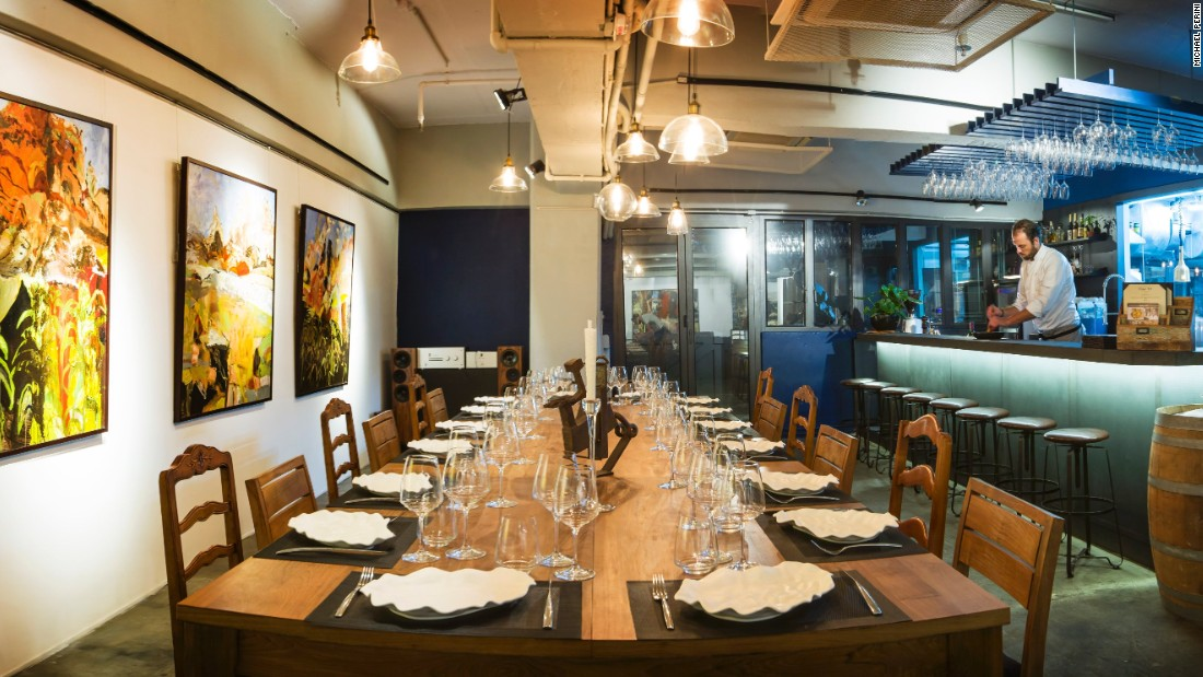 Dine Art is an open kitchen and art space in the industrial area of Wong Chuk Hang.