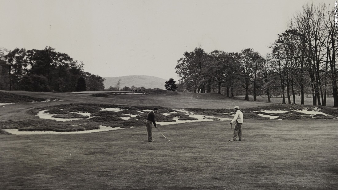 """The club reopened in 1922 with two layouts -- the Lower and Upper Courses, both of which have staged major tournaments. Pictured is the """"Great Hazard"""" designed by course architect A. W. Tillinghast for the Lower's 17th fairway."""