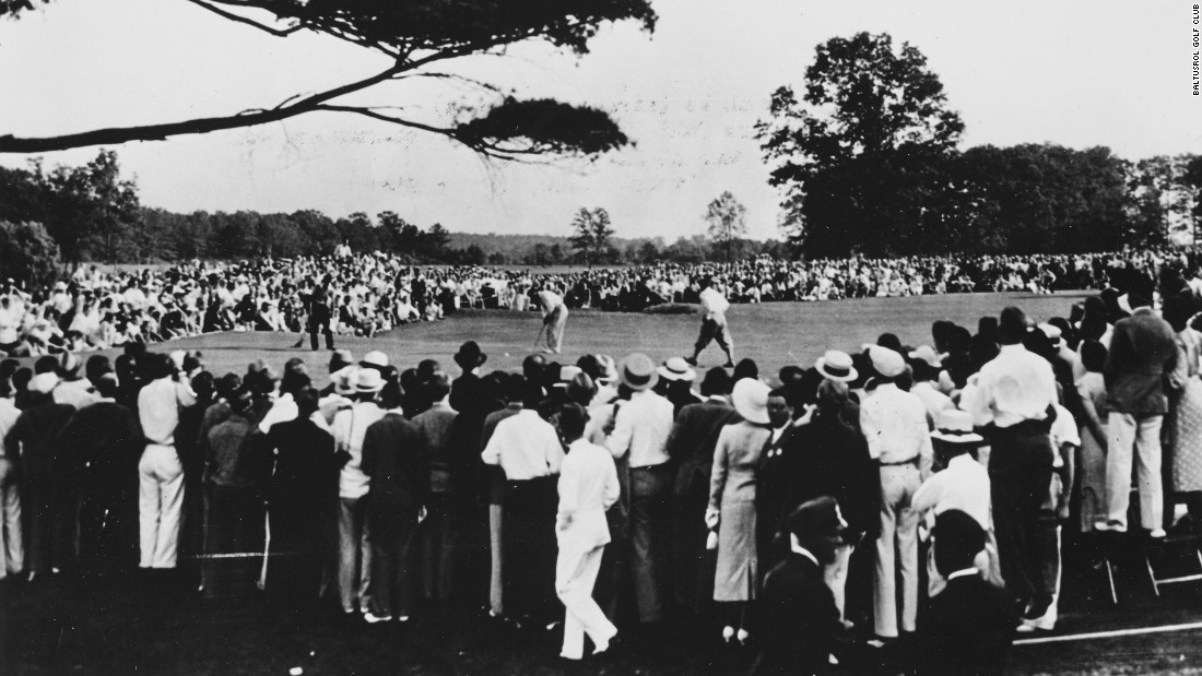 In the final round Manero was paired with the legendary Gene Sarazen, who had reportedly asked to play with his close friend. Manero, a qualifier for the tournament, shot a new U.S. Open scoring record of 282 to eclipse the mark set in 1916 by four strokes.