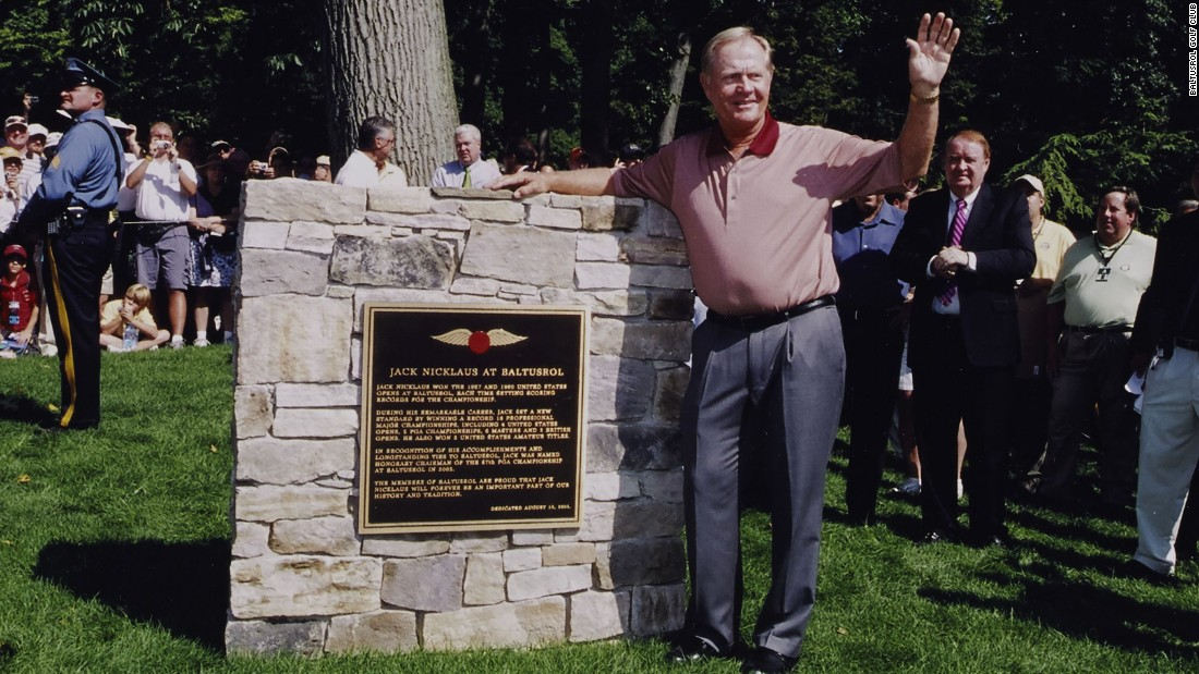 """Ahead of the 2005 PGA Championship, a special monument to Nicklaus was officially dedicated. The 18-time major winner said of the club: """"I shall always count Baltusrol among my favorite courses -- it is certainly one of the finest in the world."""""""