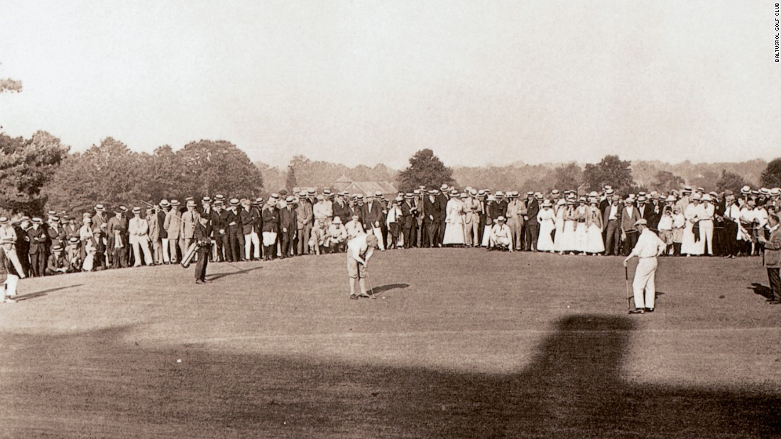 Baltusrol's Old Course hosted five major tournaments before the club was extensively redeveloped, including the 1915 U.S. Open (pictured). Four-time U.S. amateur champ Jerry Travers won his only U.S. Open title -- by one shot -- and retired soon after.