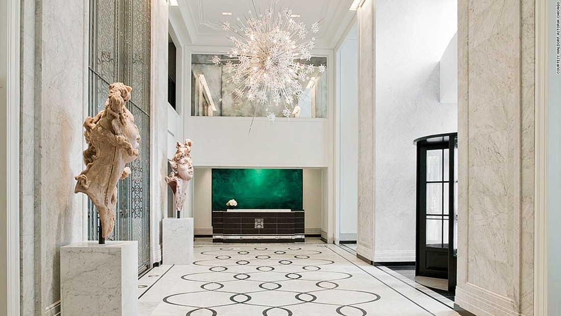 A departure from Waldorf Astoria's traditional old-world glamor, the Chicago property is all clean lines and sleek decor.