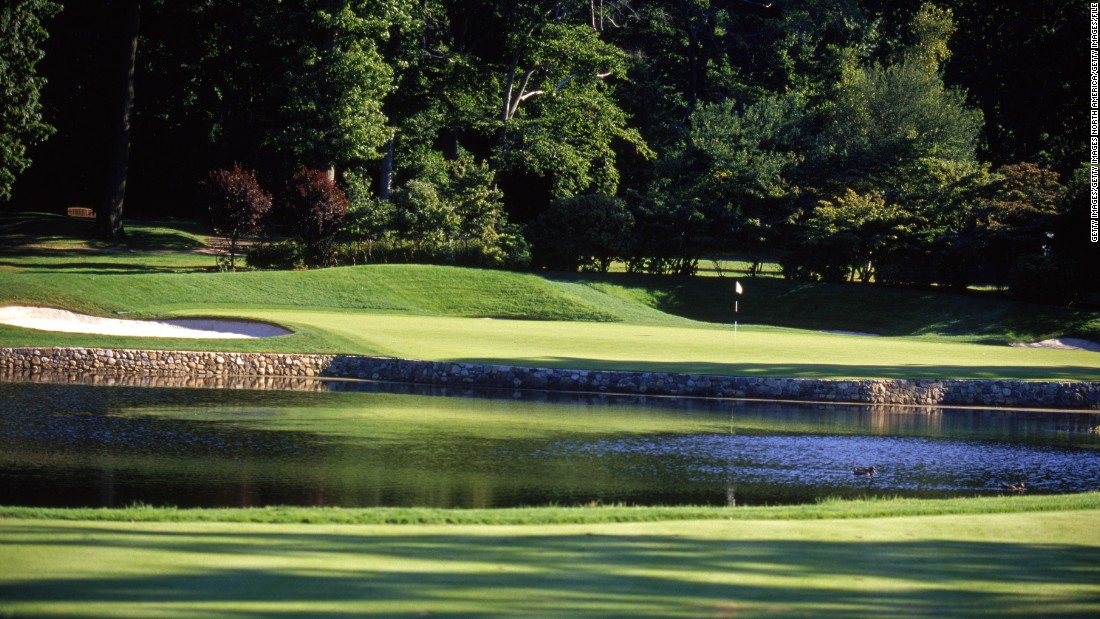 """Klein wrote that """"considerable"""" tree management since Mickelson's 2005 PGA win has created more space and provided more sunlight. Pictured is a general view of the fourth hole in 2003."""