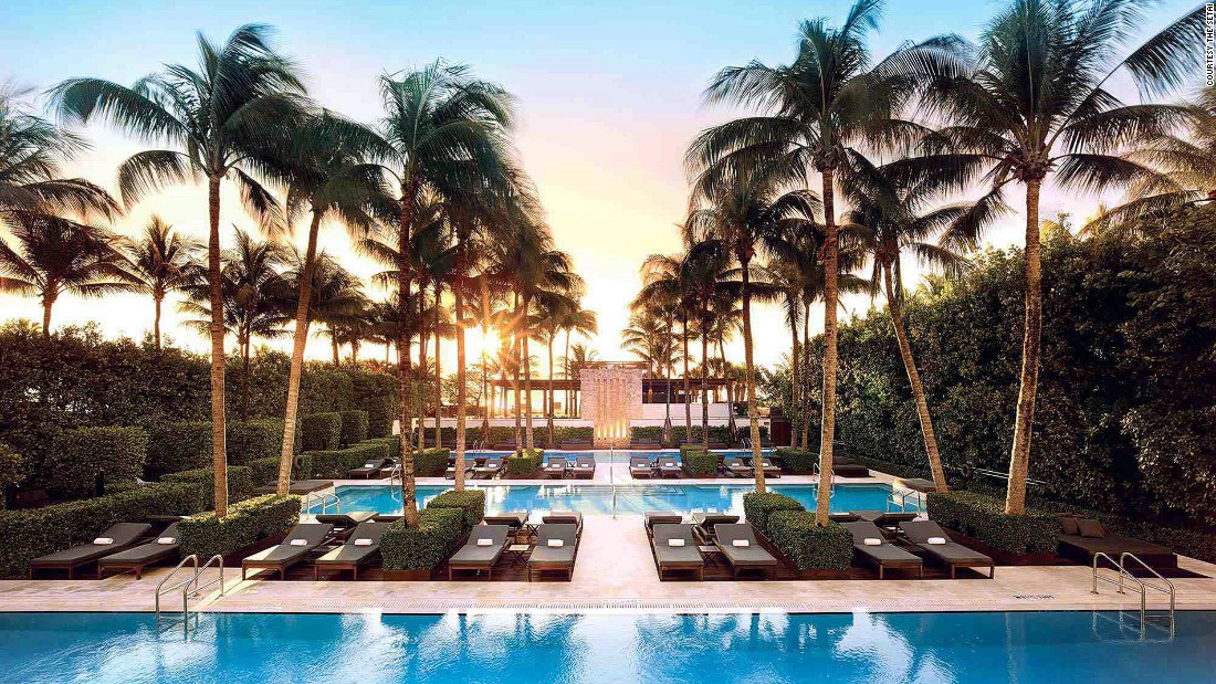 A refreshing contrast to its garish, candy-colored South Beach neighbors, the Setai feels more like a hip urban hotel. Its sleek design is a striking Art Deco-meets-Eastern aesthetic.
