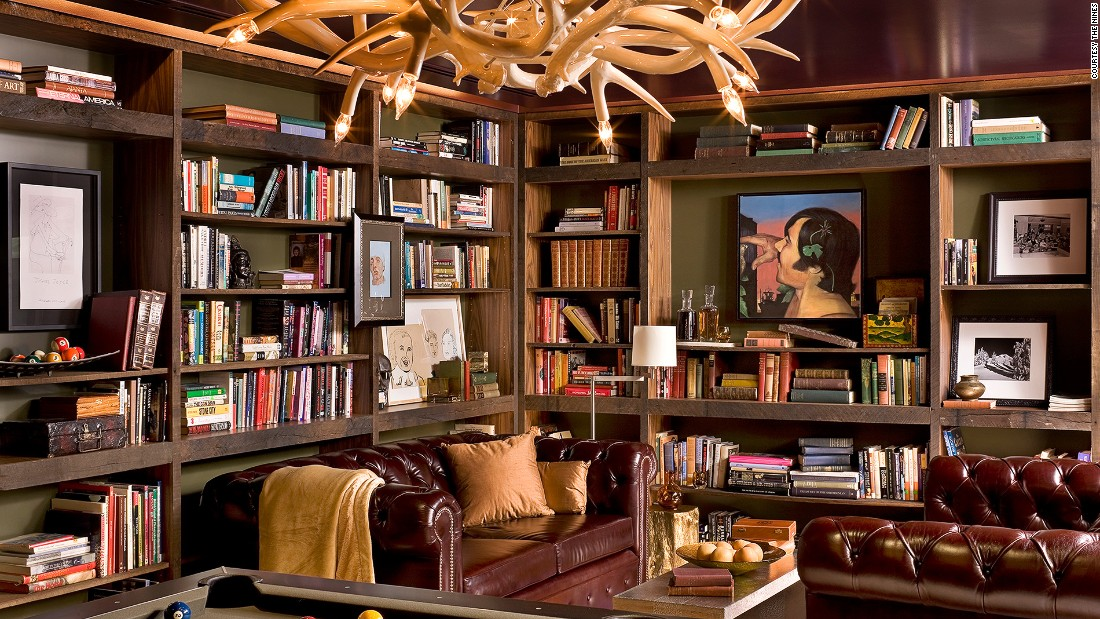 The retro billiards room stocked with books and magazines is just parts of the charms of the eclectic Nines hotel in Portland.