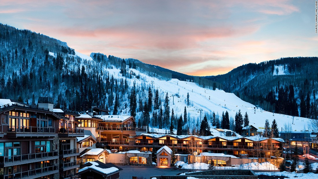 Manor Vail Lodge, perched on the banks of Gore Creek at the base of Vail Mountain in Colorado, houses suites that are individually decorated -- though all are outfitted with wood-burning fireplaces and private terraces.