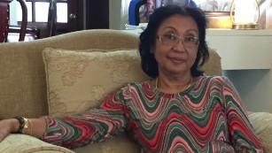 Sakinab Shah, sister of Malaysia Airlines flight 370 chief pilot Zakinab Shah.