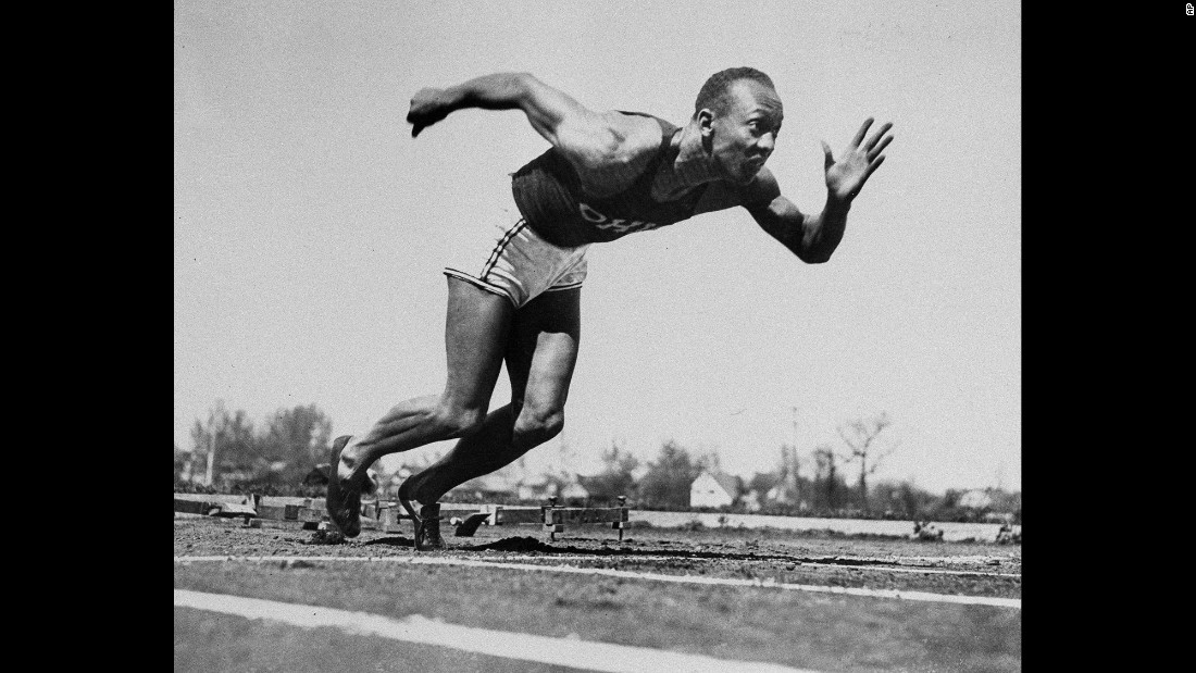 """Owens had perhaps the greatest single day in track-and-field history on May 25, 1935. During a college meet in Ann Arbor, Michigan, the """"Buckeye Bullet"""" broke three world records and tied a fourth -- all within a 45-minute span."""