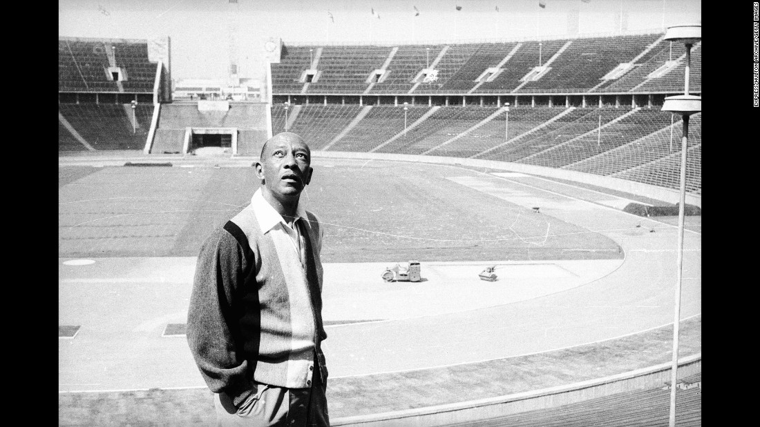 """Owens revisits the Berlin stadium in July 1965. """"I wanted no part of politics,"""" Owens said in Tony Gentry's book """"Jesse Owens, Champion Athlete."""" """"And I wasn't in Berlin to compete against any one athlete. The purpose of the Olympics, anyway, was to do your best. As I'd learned long ago from (coach) Charles Riley, the only victory that counts is the one over yourself."""" Owens died of lung cancer in 1980. He was 66 years old."""