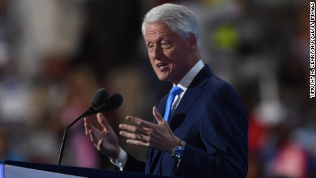 Former President Bill Clinton spaeks on Day 2 of the Democratic National Convention at the Wells Fargo Center, July 26, 2016 in Philadelphia, Pennsylvania.