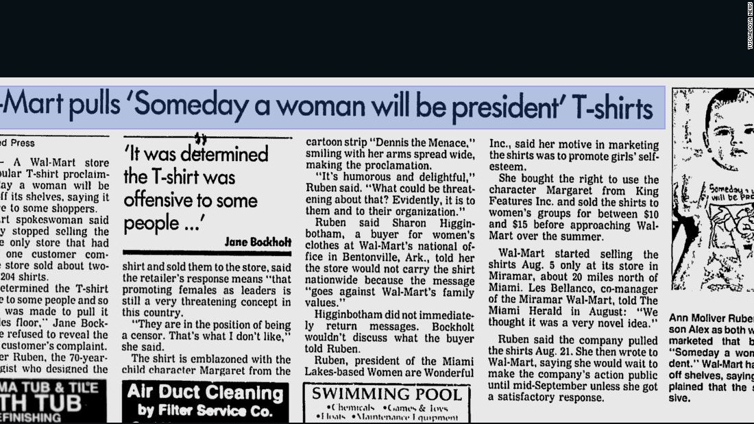 That time Walmart got offended by a female president