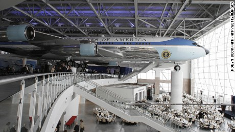 A Boeing 707 -- used by U.S. Presidents Jimmy Carter, Gerald Ford, Richard Nixon and George Bush -- is housed in Air Force One Pavilion at the Ronald Reagan Presidential Library in California.