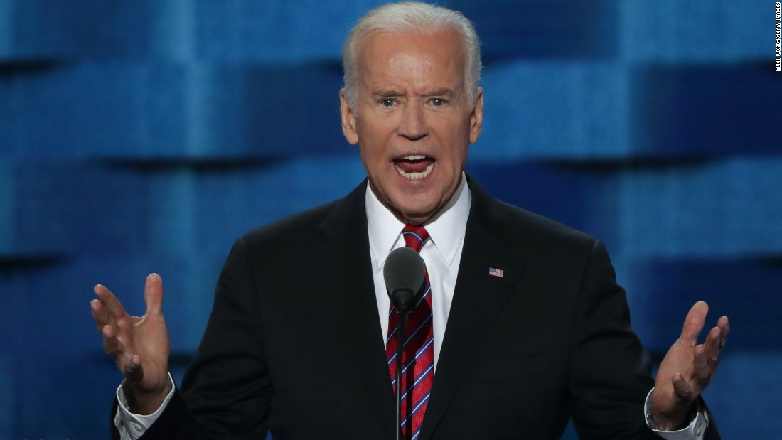 """U.S. Vice President Joe Biden also went after Trump, saying """"this guy doesn't have a clue about the middle class -- not a clue. Actually, he has no clue, period."""""""