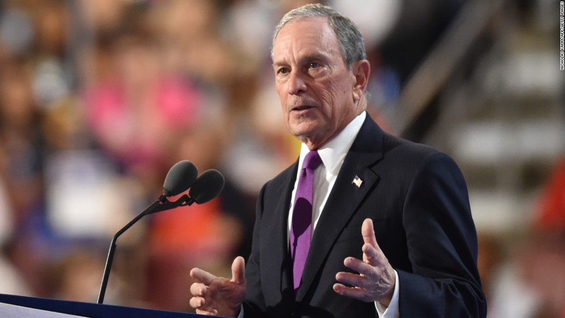 """""""I understand the appeal of a businessman President. But Trump's business plan is a disaster in the making,"""" said Bloomberg, an independent. He said the Republican nominee is a """"risky, reckless, and radical choice."""""""