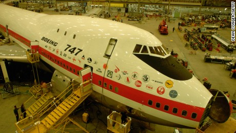 First Boeing 747 Under Construction, Seattle (Photo by Dean Conger/Corbis via Getty Images)