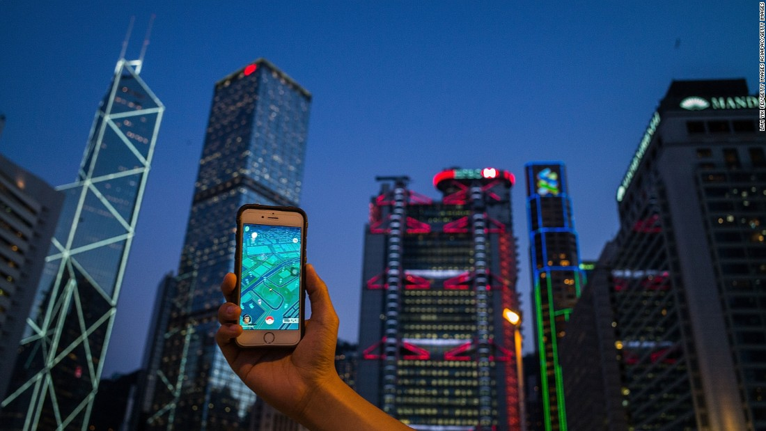 """Hong Kong businesses have also taken to the game, with several phone carriers offering free data packages for Pokémon GO, and bars and cafes buying """"lure modules"""" to attract Pokémon and players."""