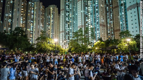 "HONG KONG - JULY 26:   People play the Pokemon Go game at a park at Tin Shui Wai on July 26, 2016 in Hong Kong. ""Pokemon Go,"" which has been a smash-hit across the globe was launched in Hong Kong on 25th July although shares in Nintendo Co tumbled on Monday after the company said the mobile game would not be a strong earnings driver.   (Photo by Lam Yik Fei/Getty Images)"