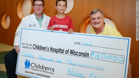 10-year-old Blake Knoll raises and donates $20,000 to Children's Hospital of Wisconsin.