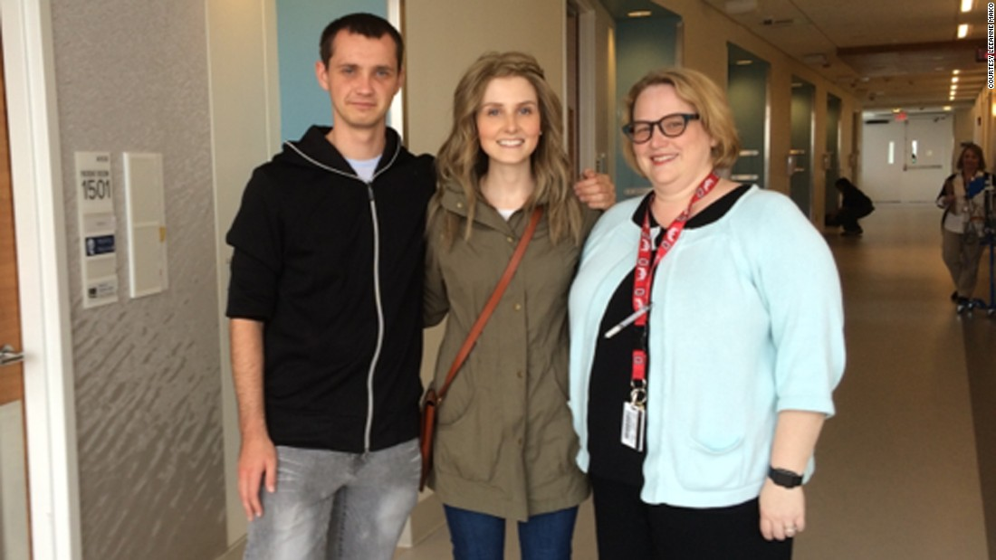 When Hester met her bone marrow donor, Galinsky, just before her wedding in April, she was able to introduce him to her lead doctor, Dr. Rebecca Klisovic.