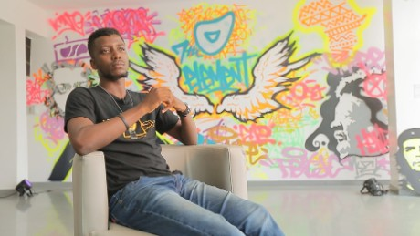 Osa Seven  is a leading graffti artist in Lagos