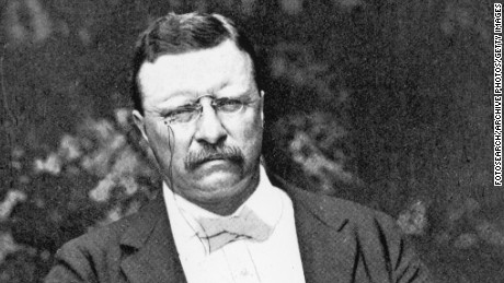 Portrait of President Theodore Roosevelt seated in garden, circa 1910s. (Photo by Fotosearch/Getty Images).
