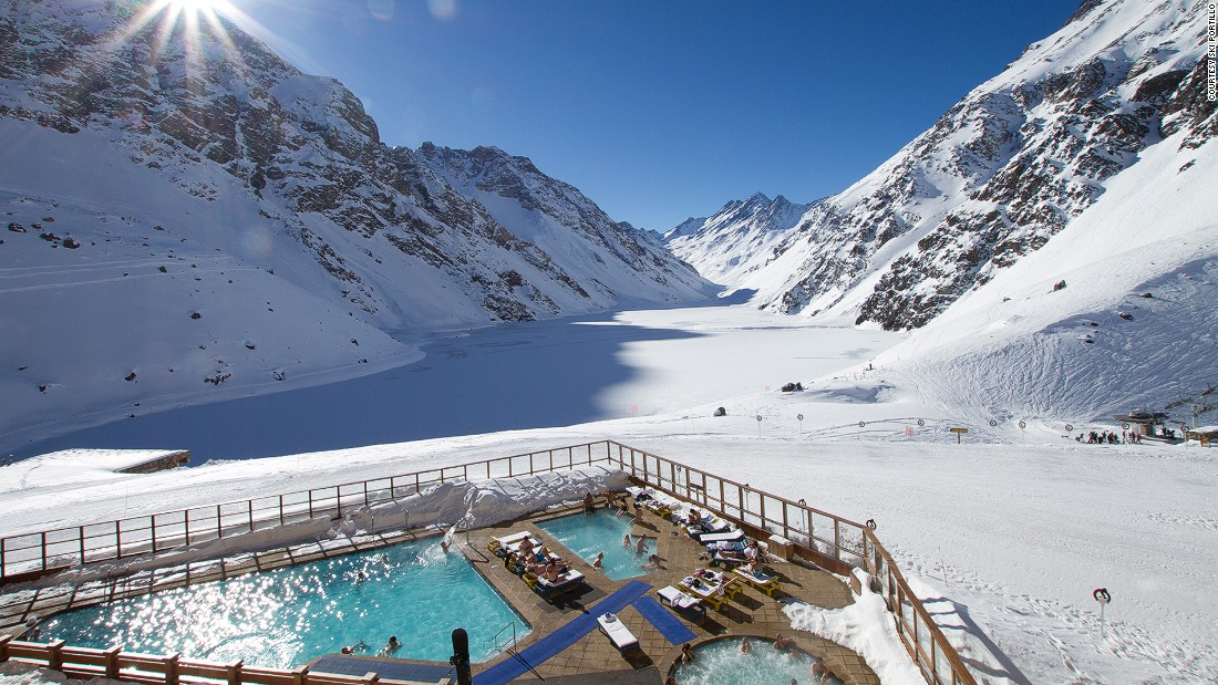 Don't forget it's winter in the Southern Hemisphere, so you can dust off your skis at South America's oldest ski resort. Originally a railway refuge, Hotel Portillo was expanded into its current 125-room form in 1949.