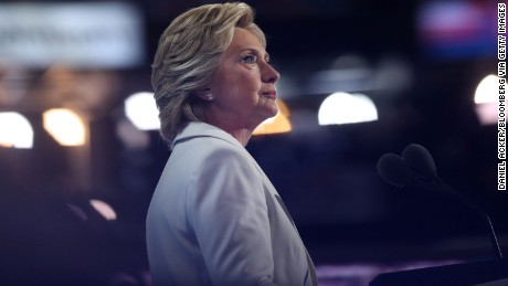 Hillary Clinton, 2016 Democratic presidential nominee, pauses while speaking during the Democratic National Convention (DNC) in Philadelphia, Pennsylvania, U.S., on Thursday, July 28, 2016. Division among Democrats has been overcome through speeches from two presidents, another first lady and a vice-president, who raised the stakes for their candidate by warning that her opponent posed an unprecedented threat to American diplomacy. Photographer: Daniel Acker/Bloomberg via Getty Images