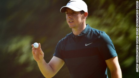 SPRINGFIELD, NJ - JULY 28: Rory McIlroy of Northern Ireland waves during the first round of the 2016 PGA Championship at Baltusrol Golf Club on July 28, 2016 in Springfield, New Jersey.  (Photo by Stuart Franklin/Getty Images)