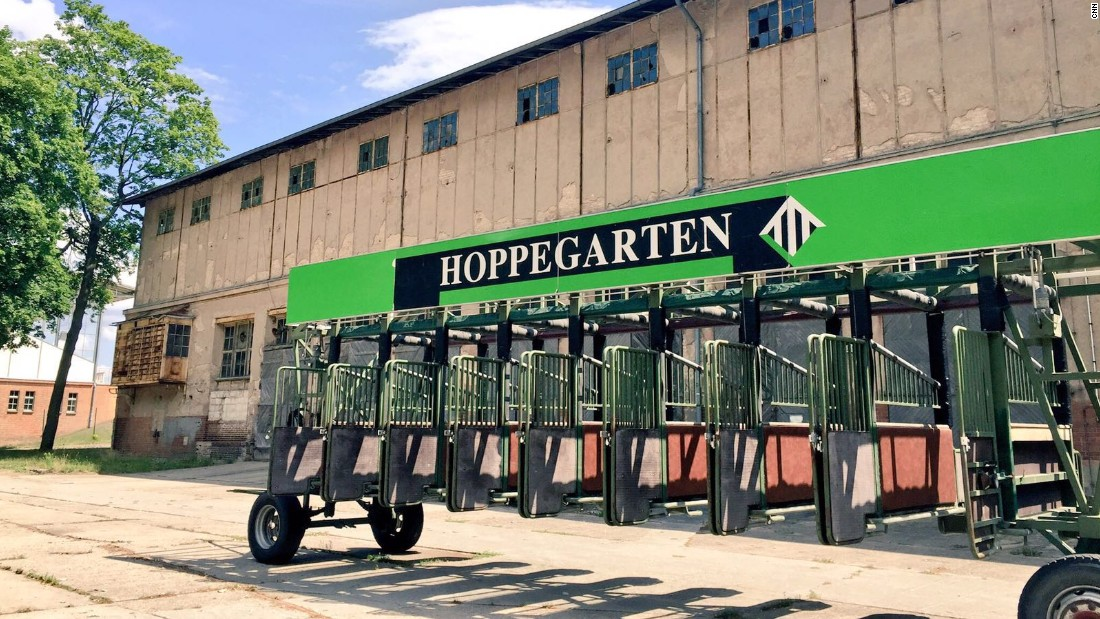 The exterior of Hoppegarten racetrack on the eastern outskirts of Berlin, Germany.