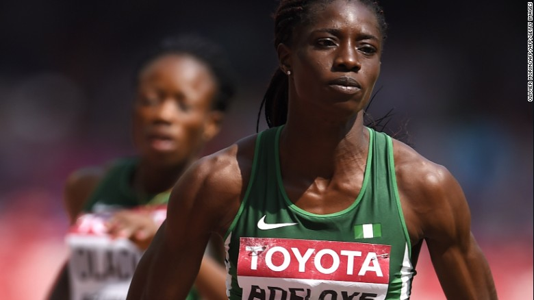 Nigeria's Tosin Adeloye has been disqualified after testing positive for a banned substance.