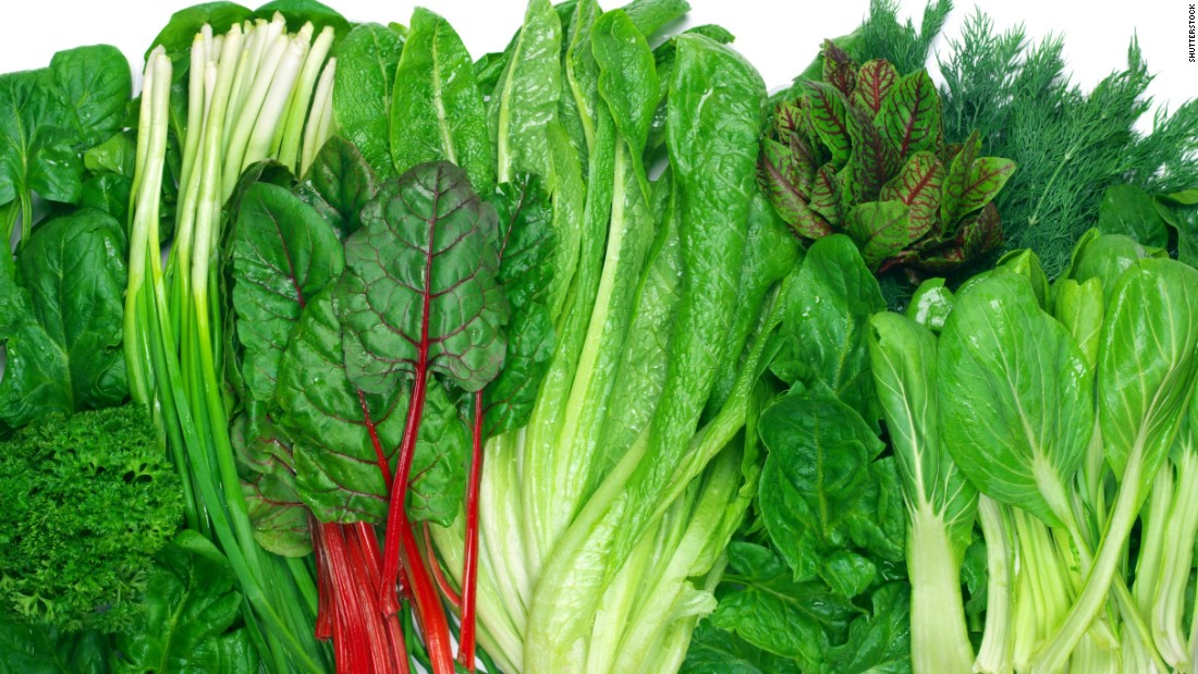 Leafy greens are also a good source of plant protein.