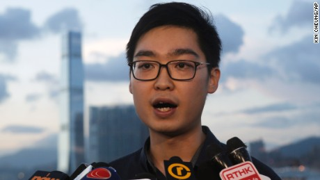 The candidate who was disqualified, Chan Ho-tin of the Hong Kong National Party