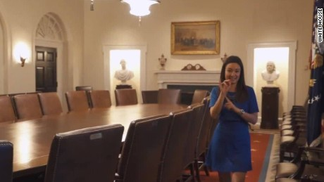 Take A Tour Of The West Wing In Sign Language  CNN Video